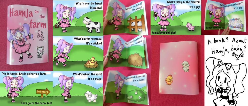 'Hamja On The Farm' Pop-Up Book by lillilotus