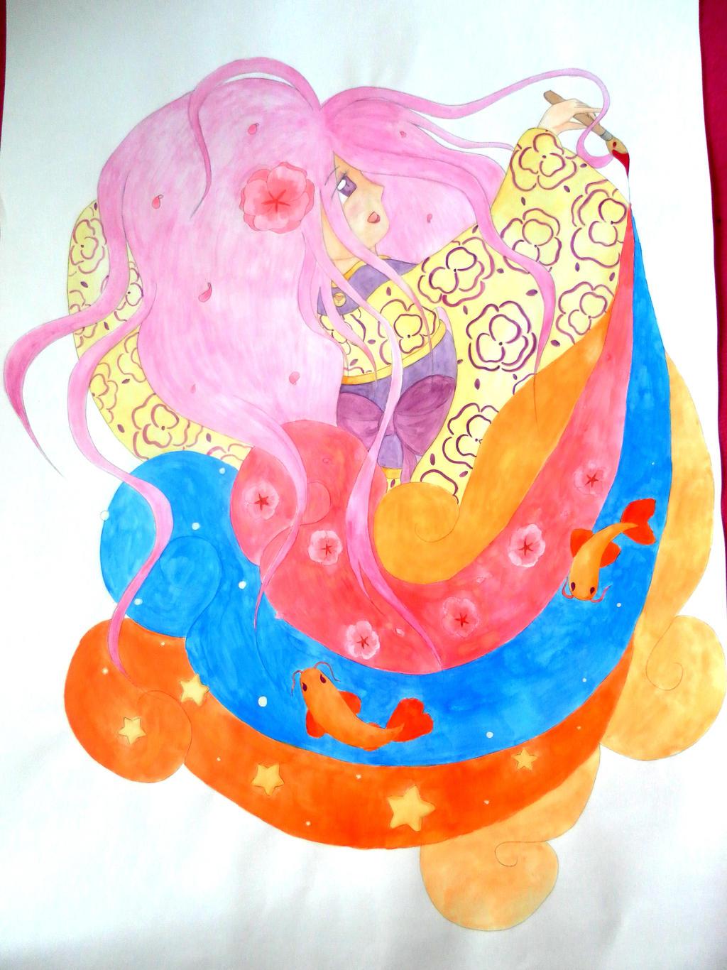Creating Cartoon Happiness by lillilotus
