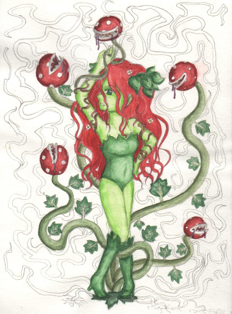 Poison Ivy Painting by lillilotus