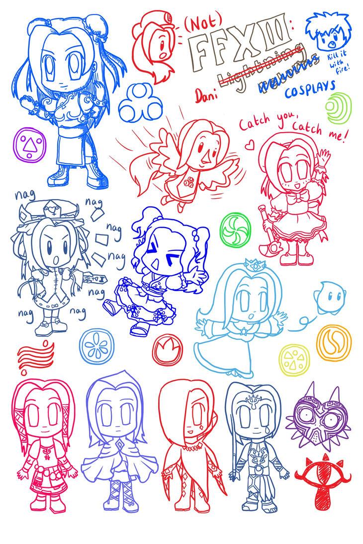 Chibi DeeKay Cosplay Doodles by lillilotus
