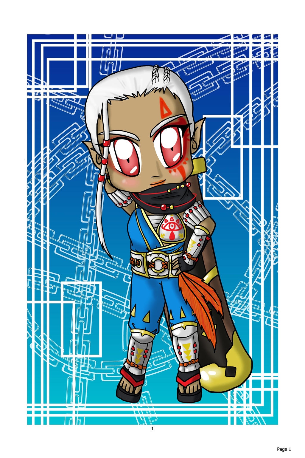 Chibi Impa: Hyrule Warrior by lillilotus