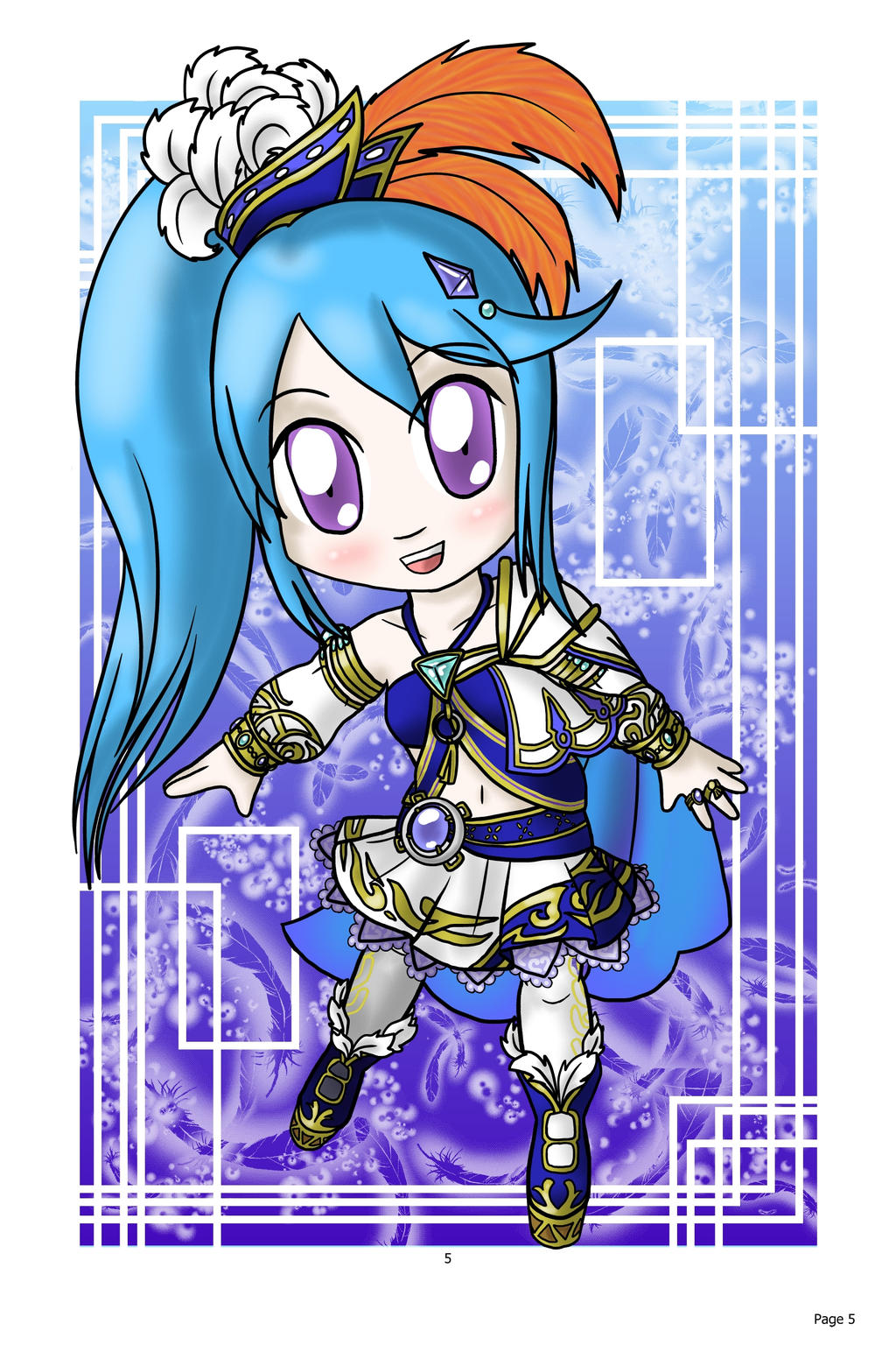 Chibi Lana: Hyrule Warrior by lillilotus