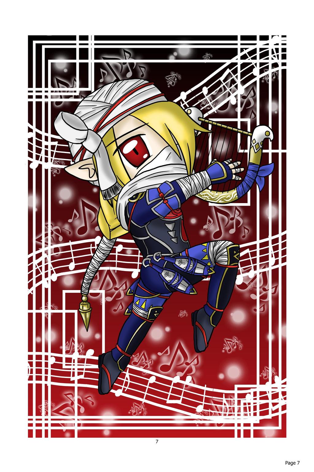 Chibi Shiek: Hyrule Warrior by lillilotus