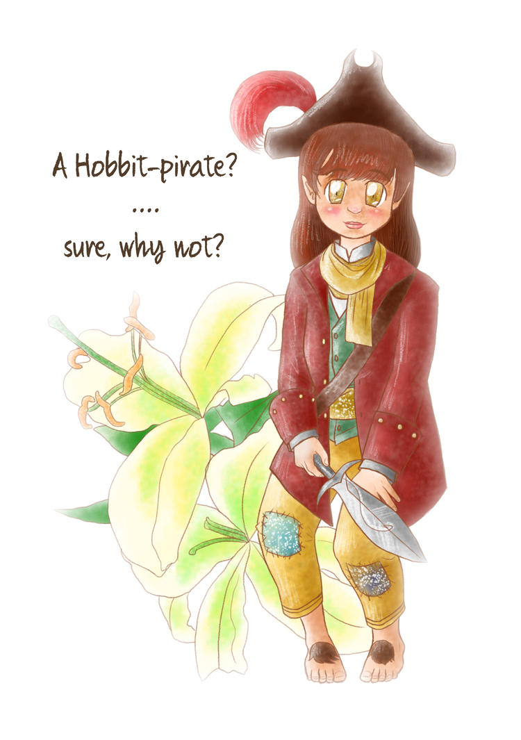 Pirate Hobbit (Habby Bday Niko-plus) by lillilotus