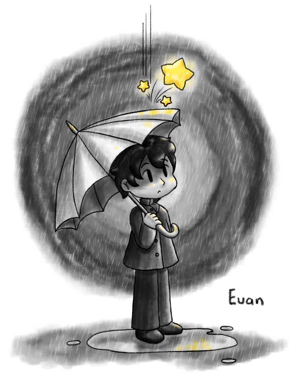 One Rainy Star by lillilotus