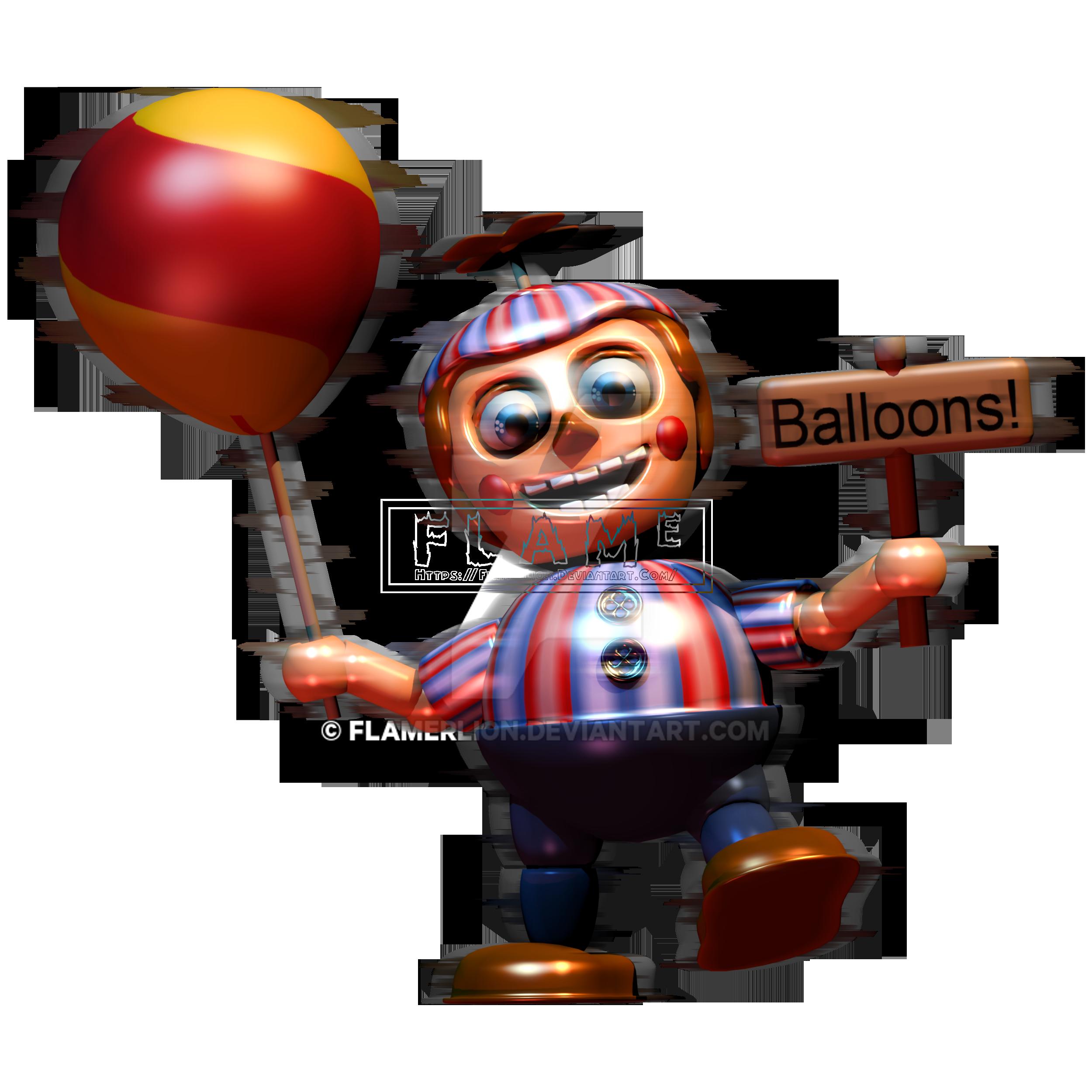 [Blender FNaF's 2] Balloon Boy By FlamerLion On DeviantArt
