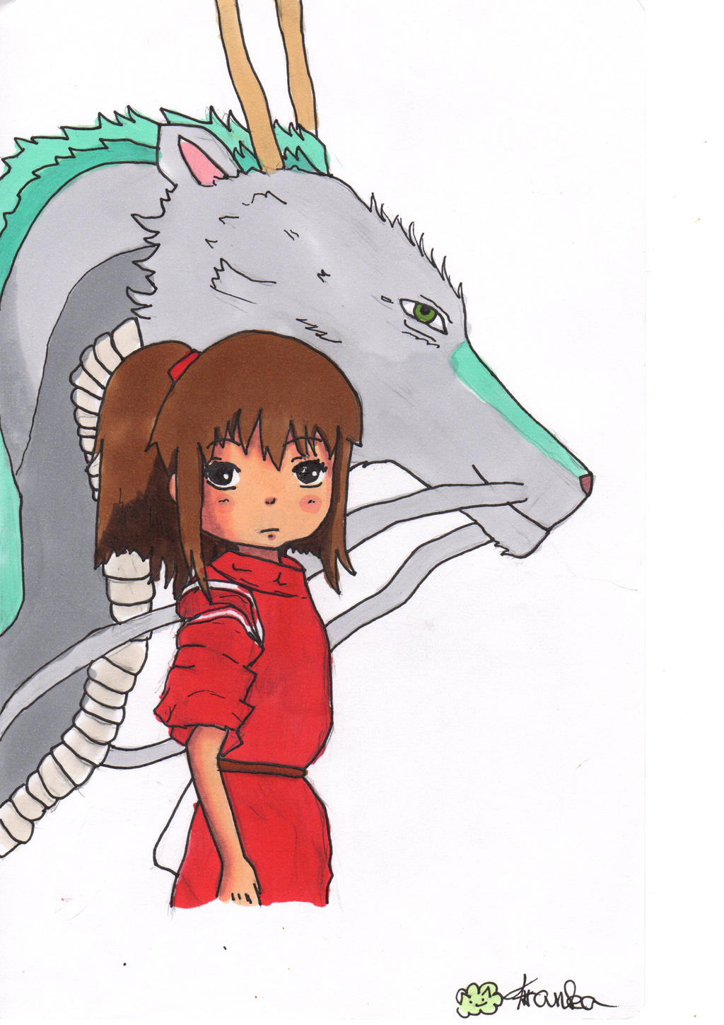 Chihiro And Haku Spirited Away Painting Video By Franka Chan On Deviantart