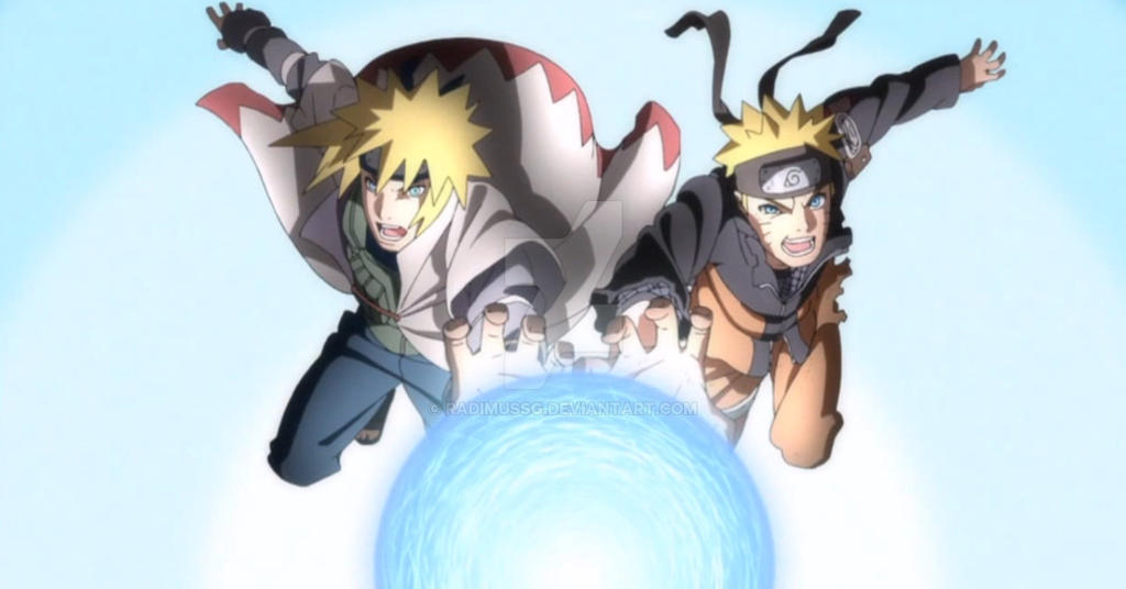 image naruto and minato rasengan download