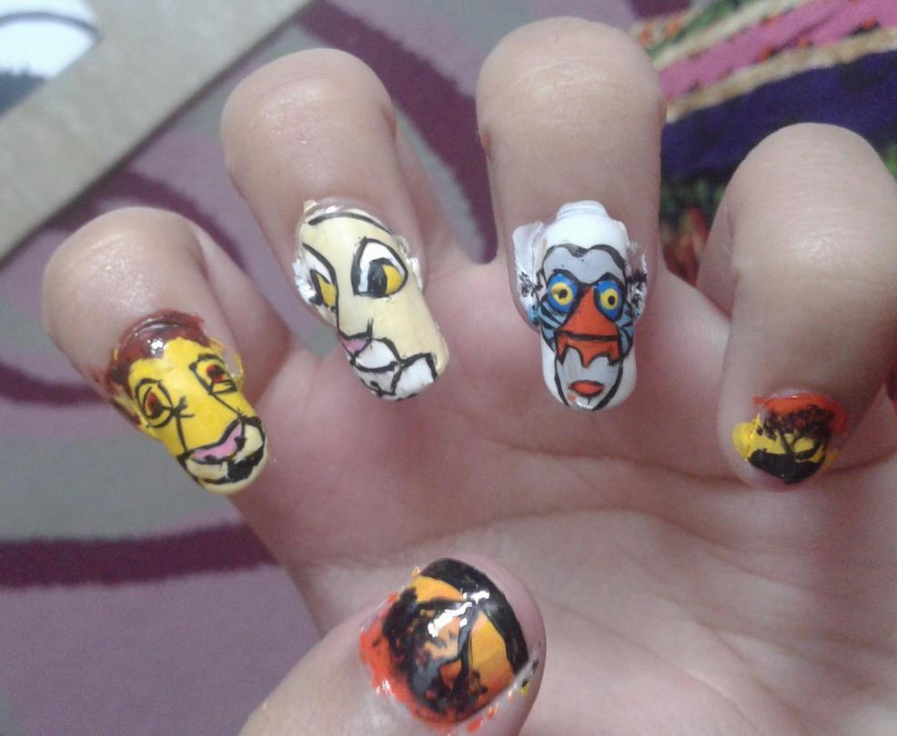 Exelent Lion King Nail Art Composition - Nail Art Ideas - morihati.com