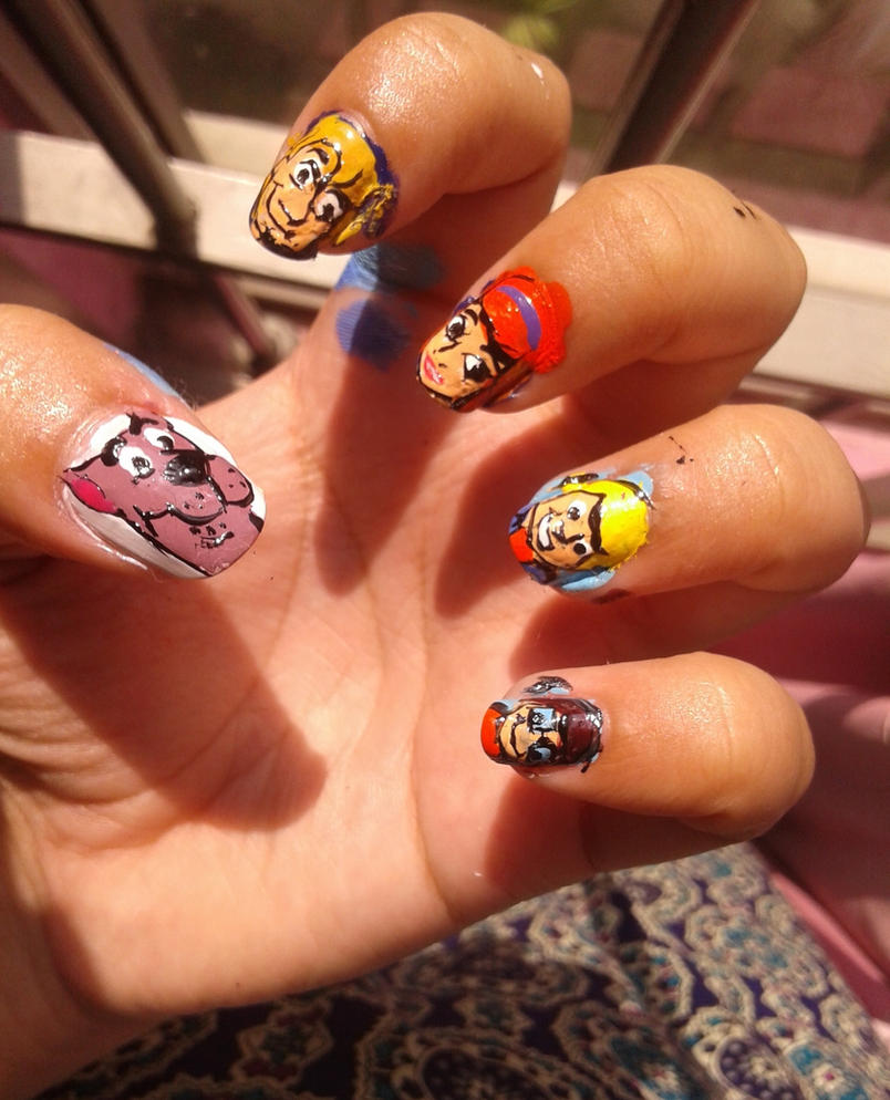Scooby doo nail art by iman imran on deviantart scooby doo nail art by iman imran prinsesfo Image collections