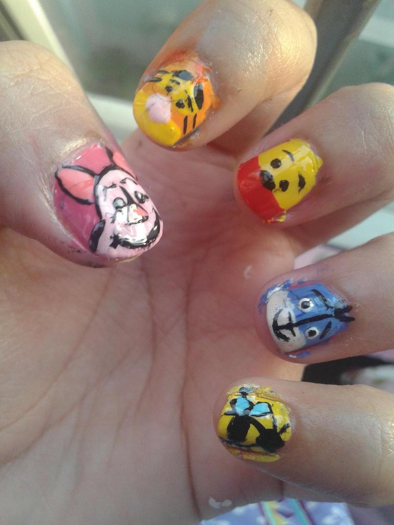 Winnie The Pooh Nail Art By Iman Imran On Deviantart