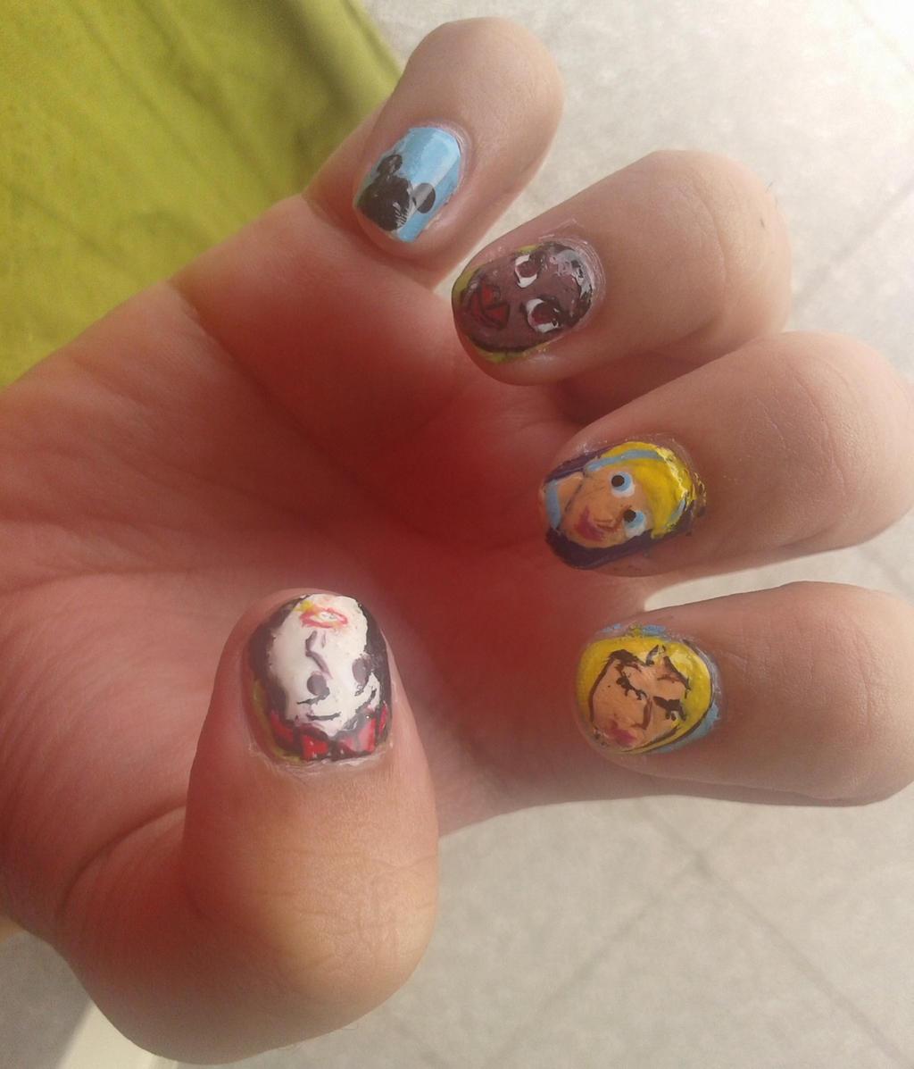 Disney Princess Tiana Waterfall Nail Art: Disney Princess Nail Art 2 By Iman-Imran On DeviantArt