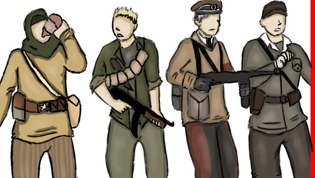 The Nazi Zombies Crew by Star-Filled-Syringes