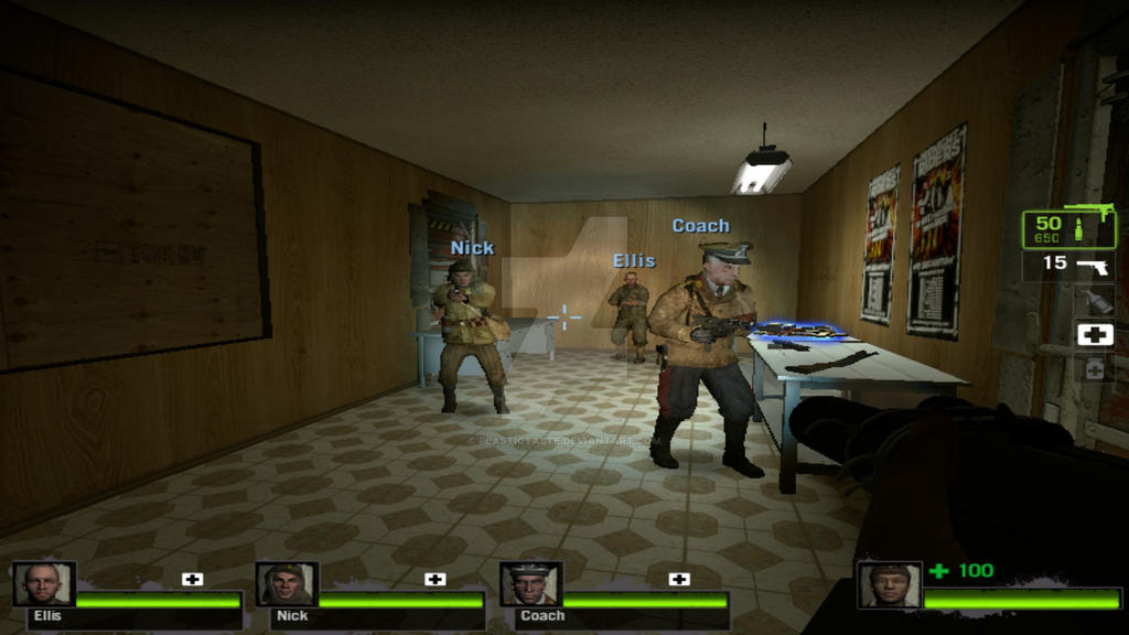 Nazi Zombies Characters-Left 4 Dead 2 by AddictedMenace