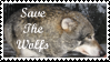 Save the Wolfs Stamp by Gehdahnia