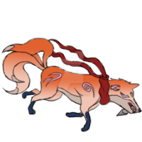 Edo Kitsune From the Back by phoenixignis