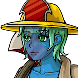 Firefighter Undine Portrait