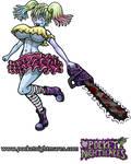 Chainsaw Zombie Happy Skip by phoenixignis