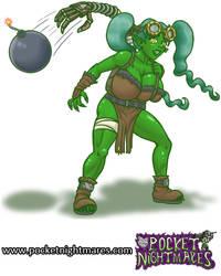 Goblin Tinkerer Throws a Bomb