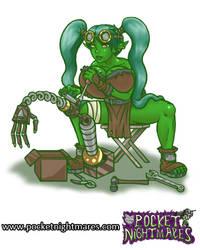 Goblin Tinkerer Fixes Her Creation