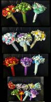 Eeveelution Bouquets by BloodPlum