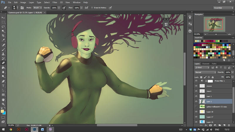 Gamora WIP by Advenadesign
