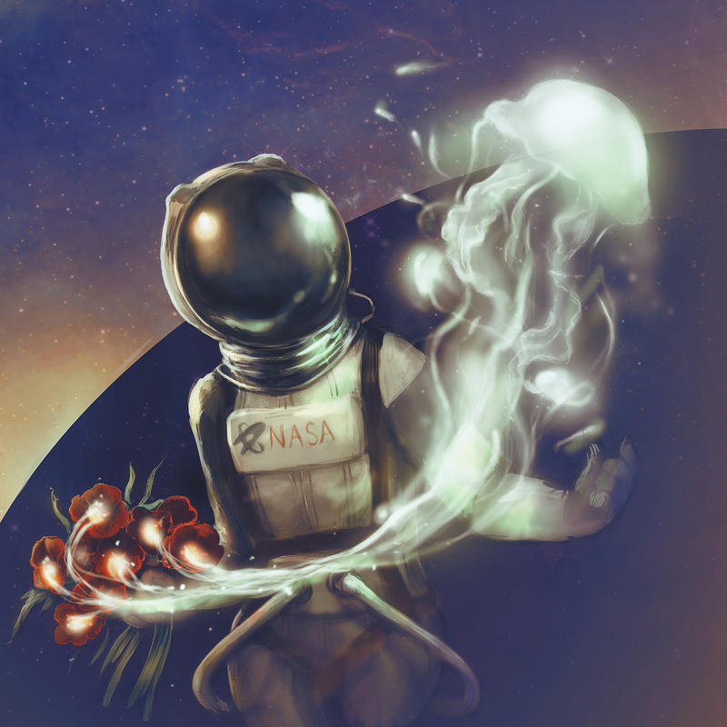 Astronaut dreaming by Advenadesign