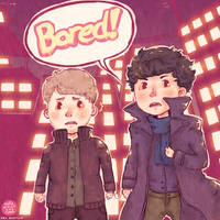 Sherlock - Bored! by CafeArtist101