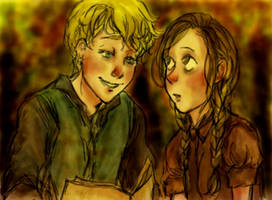 Book Thief - Liesel and Rudy by pebbled