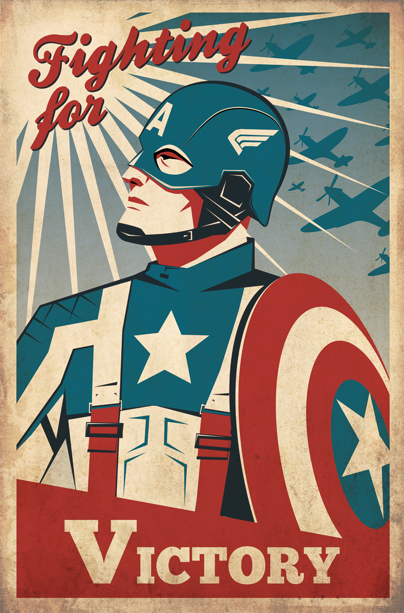 Captain america retro poster by zenithuk on deviantart for Posters art prints