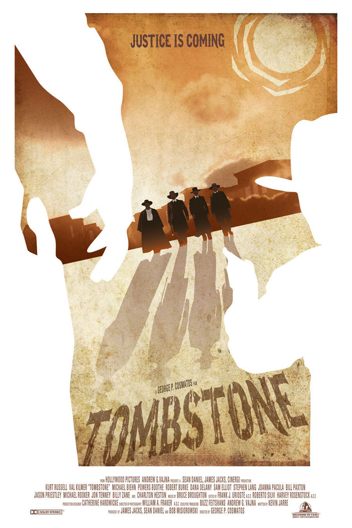 Tombstone Movie Poster by Zenithuk