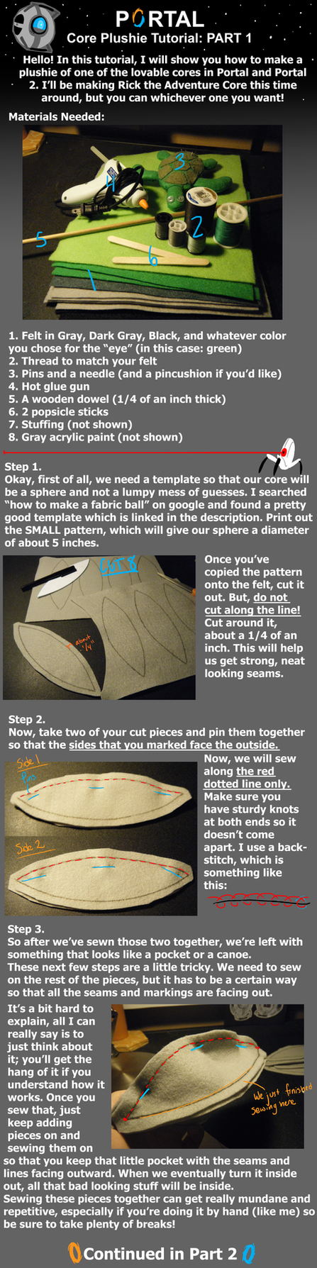 Core Plushie Tutorial: Part 1 by Homemade-Happiness