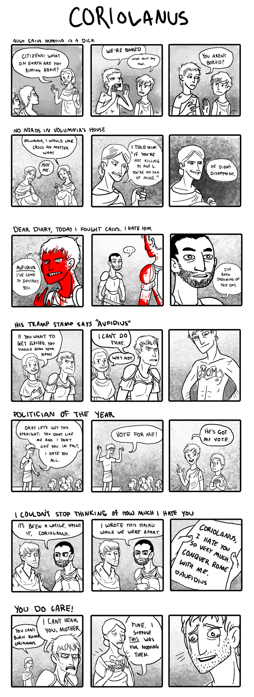 Coriolanus Comics by Homemade-Happiness