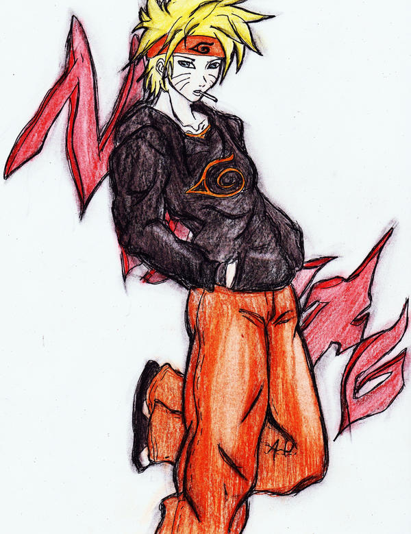 naruto colored X3 by X-Alison-X