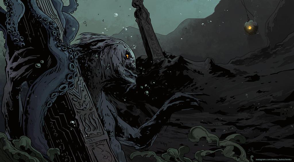 Hp Lovecraft Art Wallpapers: Dagon (H. P. Lovecraft) Fan Art By Dkalinichenko On DeviantArt