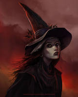Witch from Geranium Hill by dkalinichenko