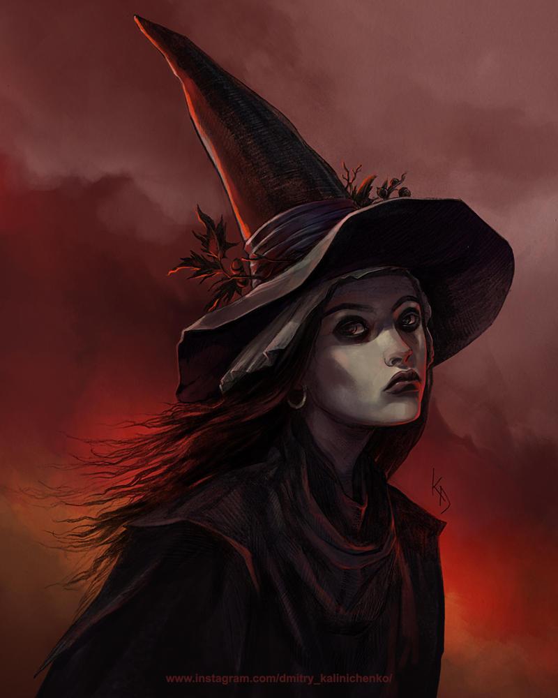 Witch from Geranium Hill by dkalinichenko