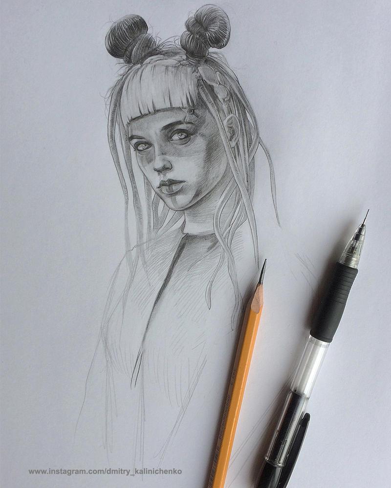 Cyber Girl by dkalinichenko