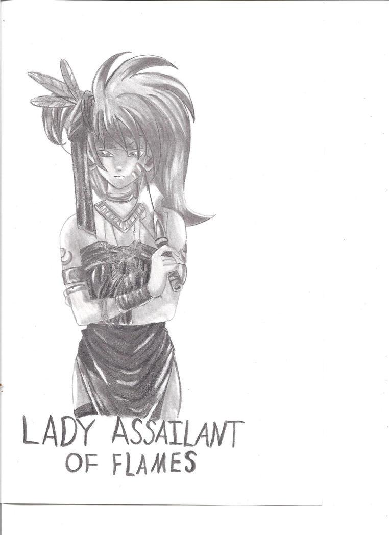 Lady Assasin Of Flames by RajniDiamanda