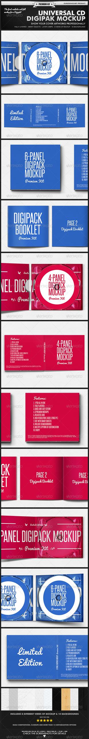 6 Panel Digipak Mockup » Tinkytyler.org - Stock Photos ...