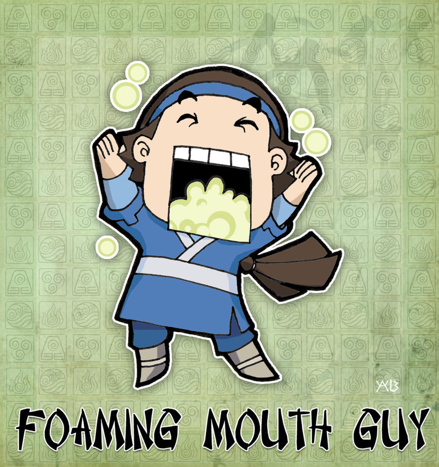 Foaming Mouth Guy by rabidcyrus