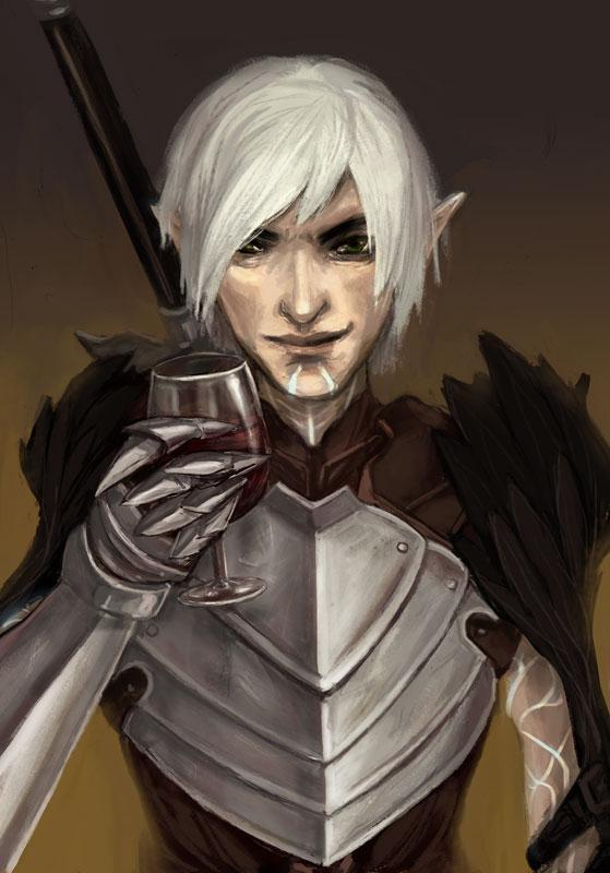 Fenris 2 | Dragon age characters, Dragon age games, Dragon