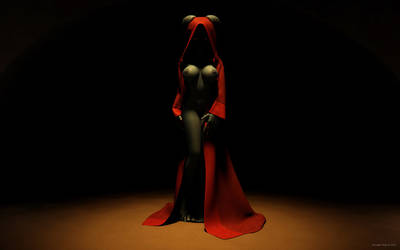 Sexy woman in red cloak by kondaspeter1