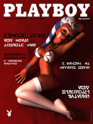 Ahsoka Tano Playboy cover by kondaspeter1
