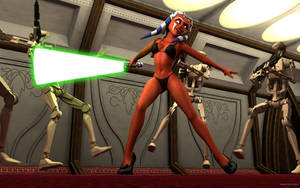 Ahsoka Tano in action by kondaspeter1