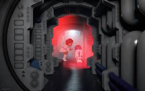 Princess Leia with Artoo-Detoo