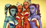 Sexy Clone Wars girls by kondaspeter1