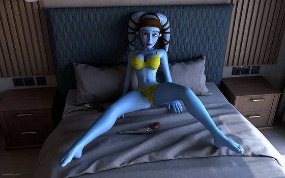Aayla Secura on the bed
