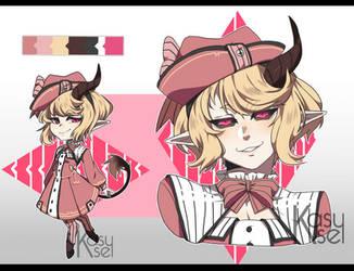 |Adopt #3| Pink Demon Girl |CLOSED|(OTA) by SheiKatt