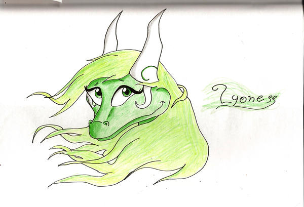 Eyes of the green dragoness by IcelectricSpyro